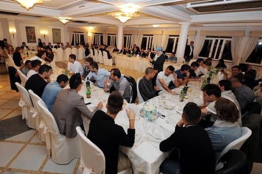 Il Napoli a cena a Villa D'Angelo
