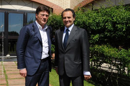 Prandelli in visita a Castelvolturno: