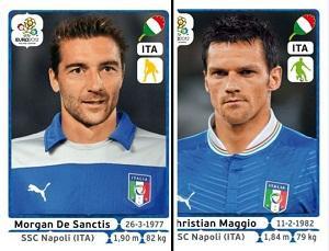 Euro 2012, Maggio e De Sanctis in rappresentanza del Napoli