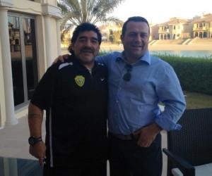 Diego Maradona e Angelo Pisani a Dubai