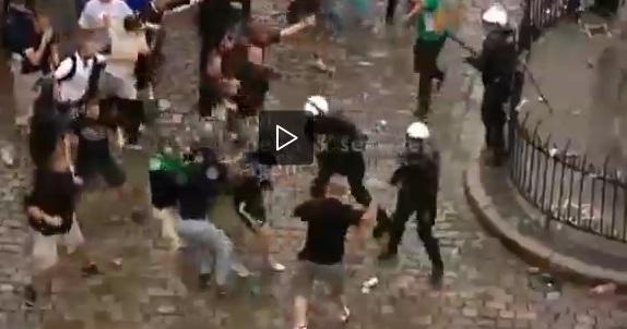 EuroViolenza: VIDEO, i croati attaccano la polizia locale