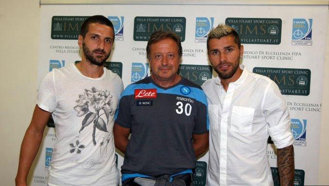 Gamberini e Behrami, benvenuti al Napoli: