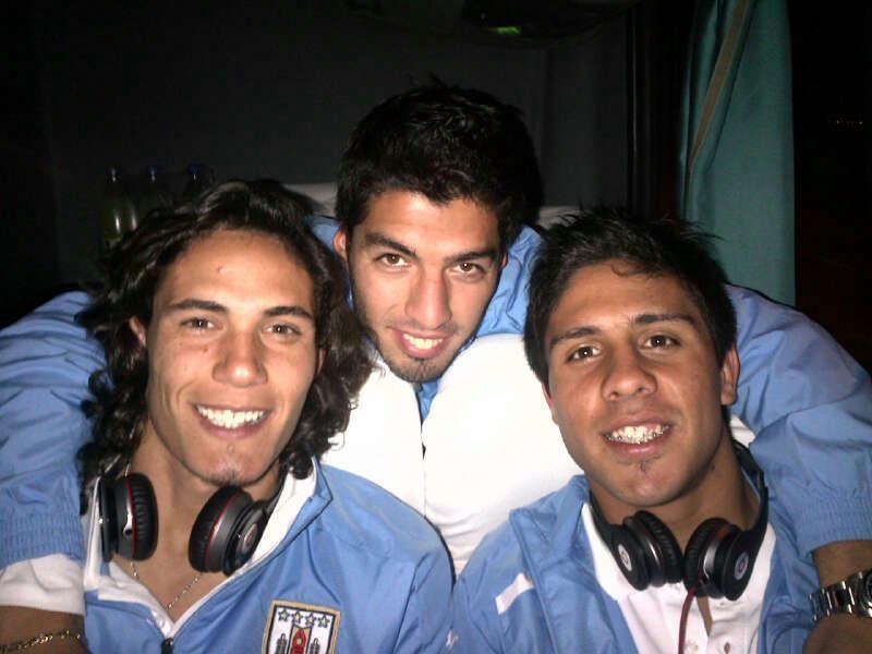 Suarez, foto con Cavani: