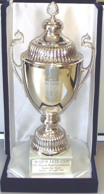 Ecco l'Acqua Lete Cup in palio contro il Leverkusen