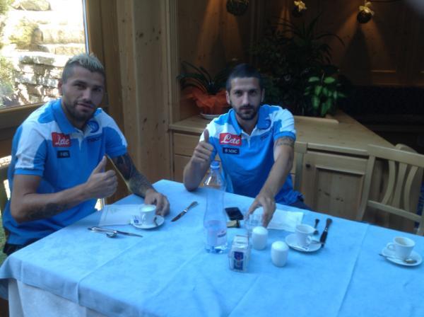 Behrami e Gamberini presentati prima di Napoli-Trentino Team: