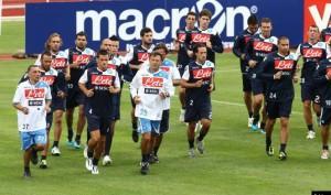 Il Napoli a Dimaro con la Coppa Italia