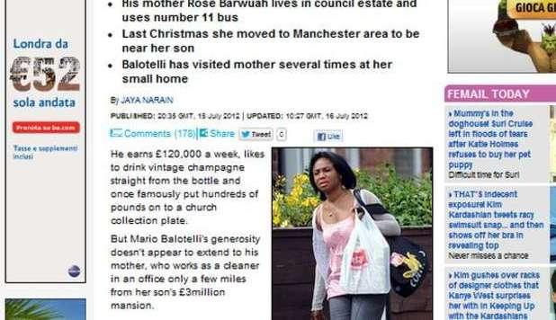 FOTO: La madre di Balotelli fa le pulizie a...