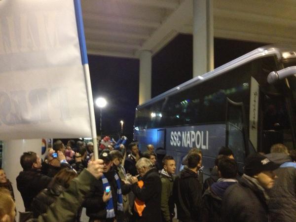 Il Napoli è atterrato a Milano - FOTO
