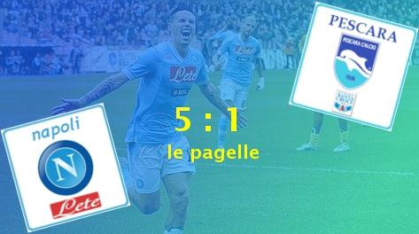 Napoli v Pescara 5:1, le pagelle