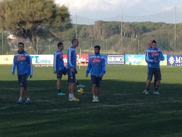 FOTO - Verso Napoli-Palermo: primo allenamento di Calaiò con gli azzurri