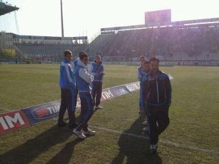 Azzurri in campo e tanti tifosi presenti al Tardini - FOTO
