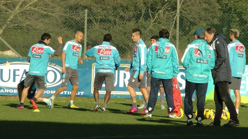 Gli azzurri si preparano in vista del match di Parma