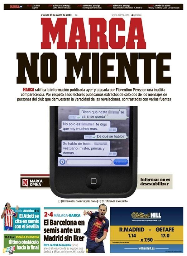 FOTO: Casillas e Sergio Ramos hanno chiesto la testa di Mourinho, ecco l'sms sconvolgente!