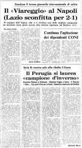 Un ritaglio di giornale dell'epoca