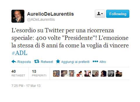 Aurelio 400 volte!