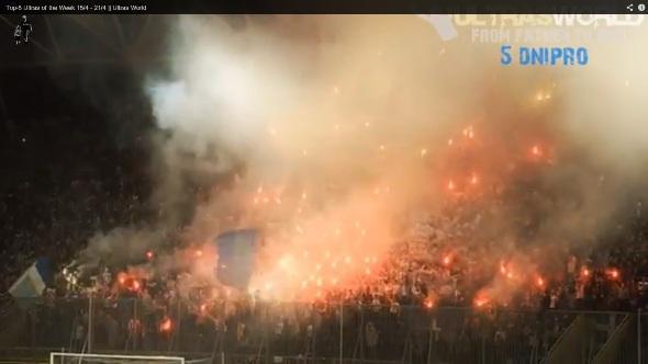5° posto - Ancora i tifosi del Dnipro