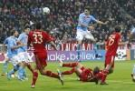 Napoli's Federico Fernandez scores during their Champions League Group A soccer match against Bayern Munich in Munich