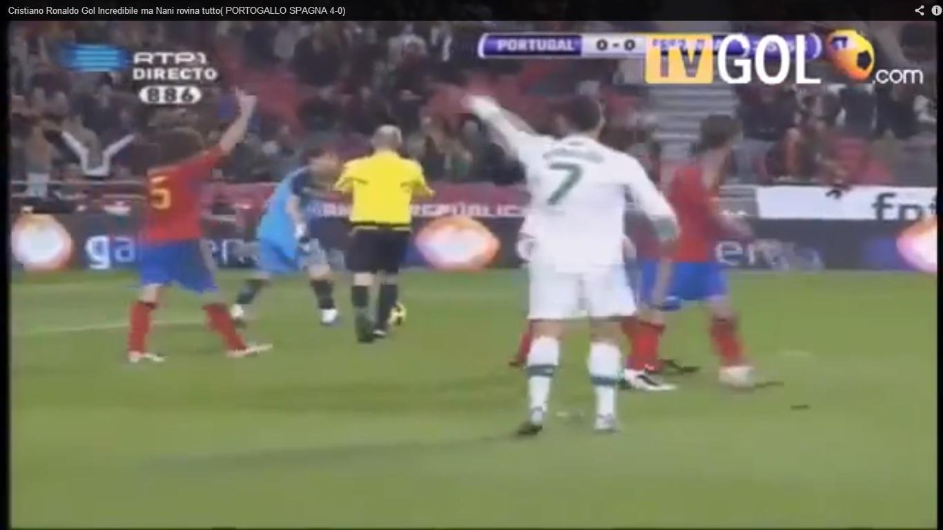 gol Ronaldo Portogallo Spagna