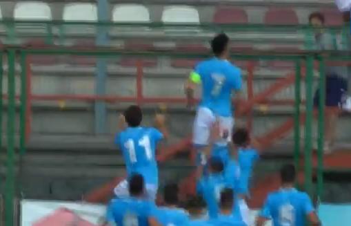 Youth League- Napoli Borussia Dortmund 1 - 0, il rigore di Genny Tutino - YouTube