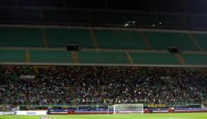 Calcio: Inter-Fiorentina, vuota la Curva Nord