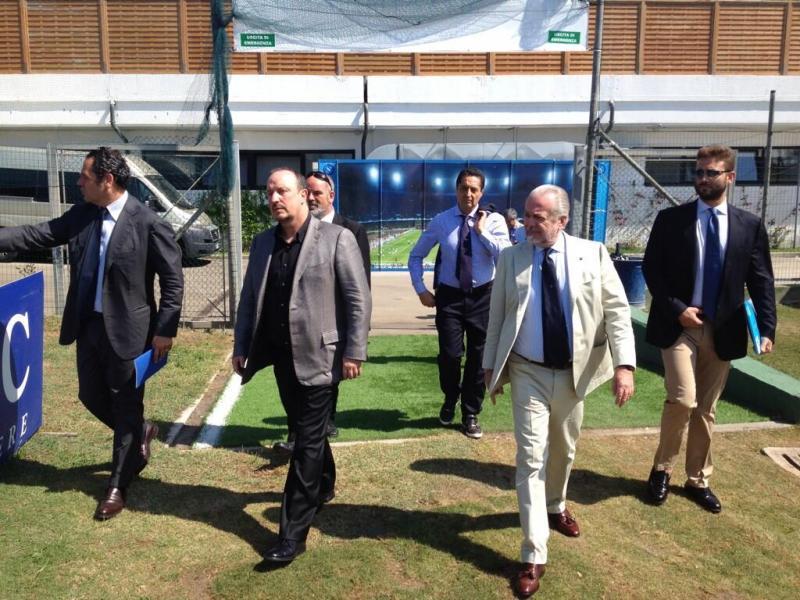De Laurentiis, Benitez e Bigon