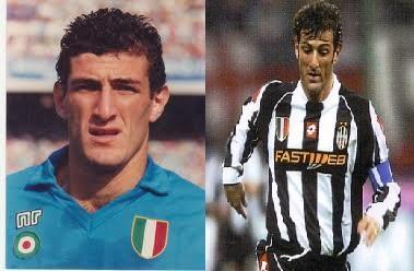 """CIRO FERRARA - Il cuore di Napoli, dieci anni in azzurro (dall'84 al '94, 247 presenze e 12 gol) lasciò tutti di stucco quando, per problemi societari legati ad una scellerata gestione post-maradoniana, dovette andare alla Juve per incassare il denaro utile per non far """"chiudere bottega"""" al Napoli. Alla Juve conquisterà tutto, giocando 253 volte e segnando 15 reti. Ora aspetta di sbocciare anche come allenatore, dove non è ancora riuscito ad affermarsi nonostante le occasioni, una persa proprio con il treno-Juventus."""
