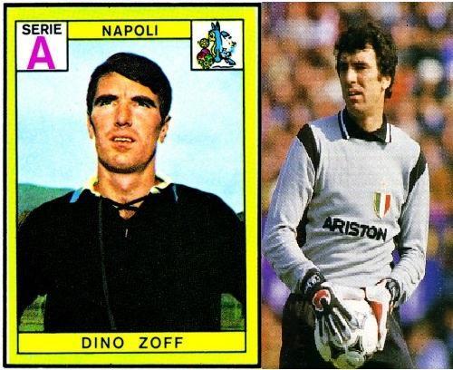 DINO ZOFF - Il Napoli lo acquistò dal Mantova nel 1967, rimase in azzurro fino al '72 (143 presenze), quando lo prese la Juve, dove divenne uno dei più forti portieri italiani (con i bianconeri 330 presenze e tanti record battuti). Si ritirò all'età di 41 anni.