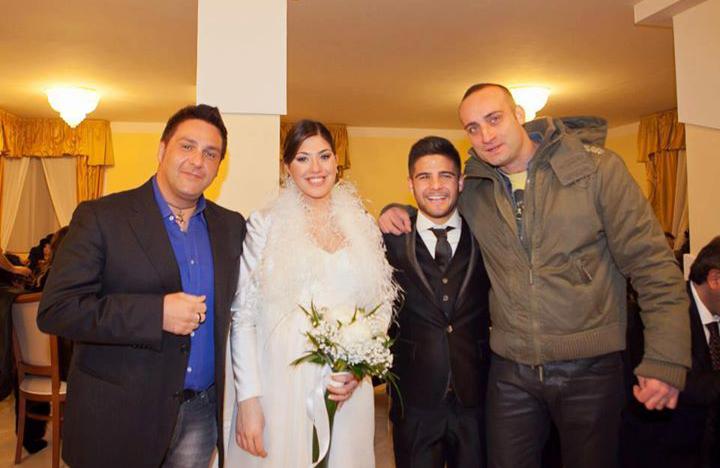 Ivan e Cristiano al matrimonio di Lorenzo Insigne