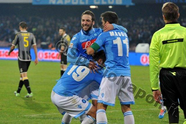 Napoli Udinese esultanza