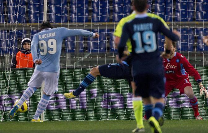 Floccari in gol contro il Napoli