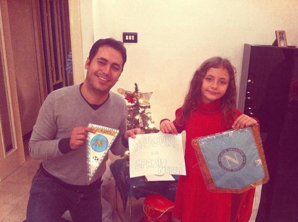 Il direttore Antonio Manzo con la figlia Chiara