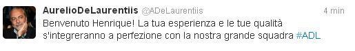 Tweet Henrique