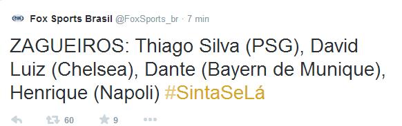 Fox Sports Brasil (FoxSports_br) su Twitter