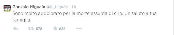 Higuain tweet