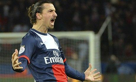PSG's Zlatan Ibrahimovic
