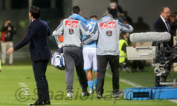 Fiorentina-Napoli insigne infortunio