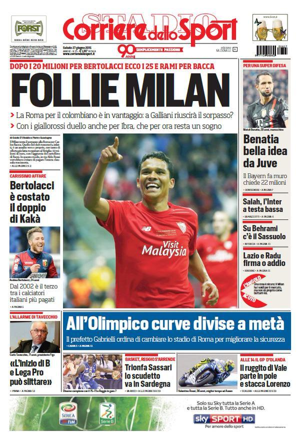 Corriere dello Sport 27-06-2015