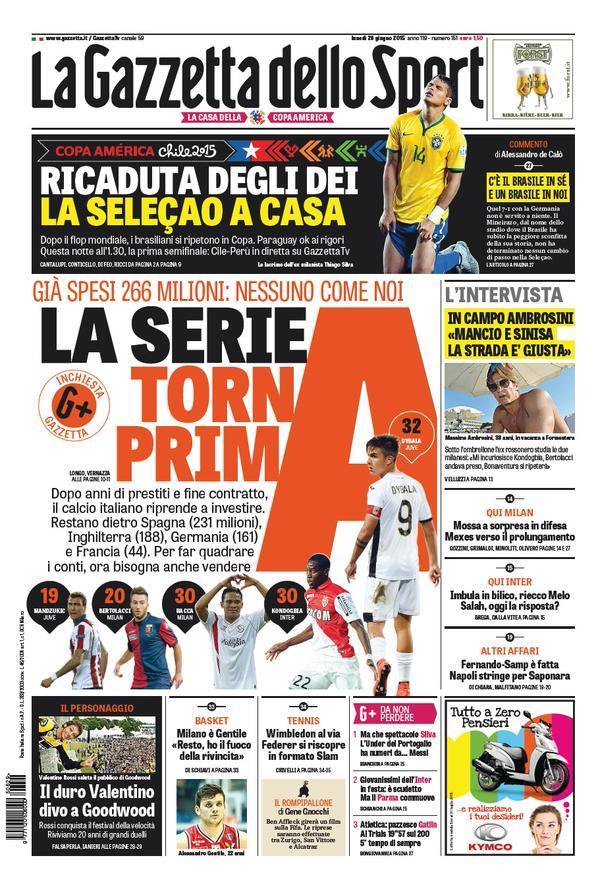 Gazzetta 29-06-2015