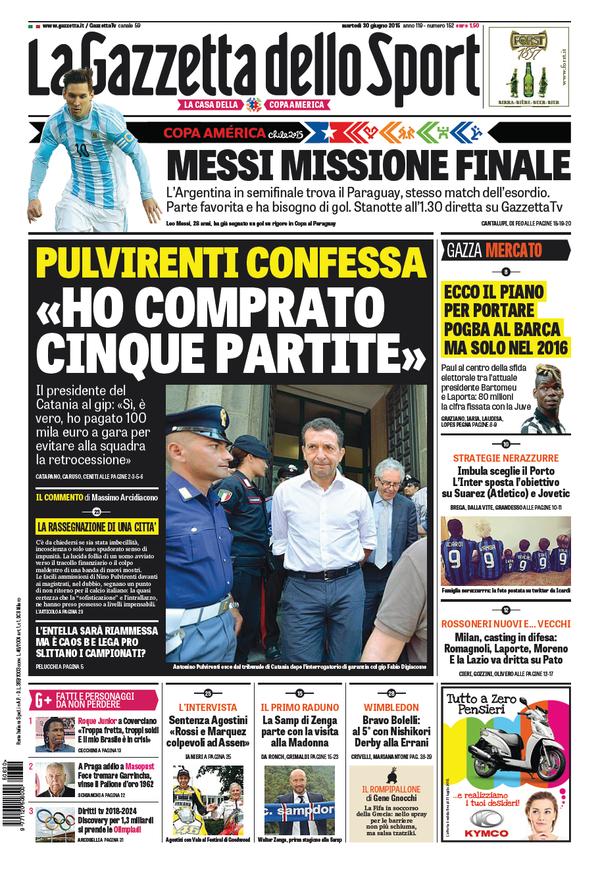 Gazzetta 30-06-2015