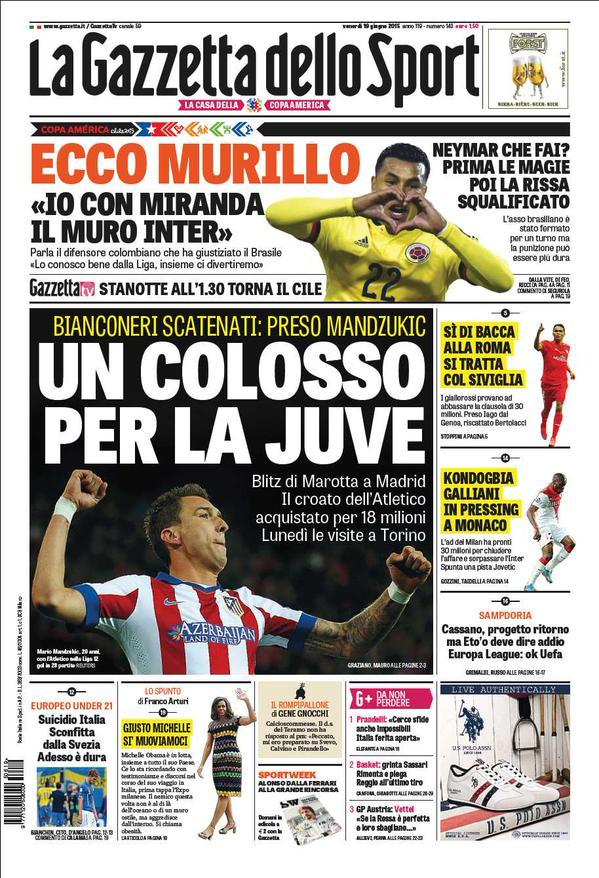 Gazzetta dello Sport 19-06-2015