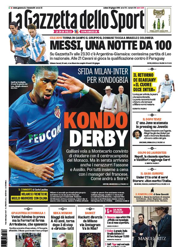 Gazzetta dello Sport 20-06-2015