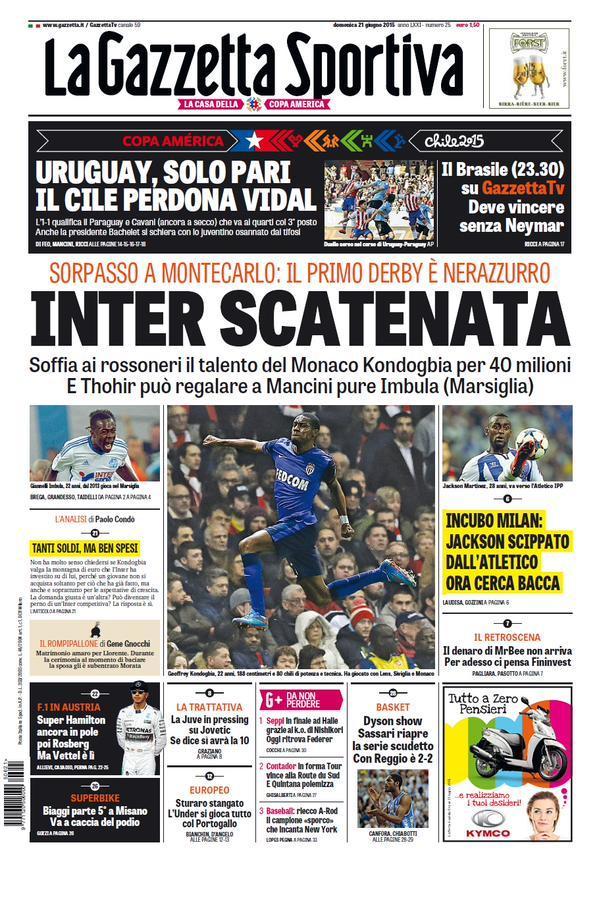 Gazzetta dello Sport 21-06-2015