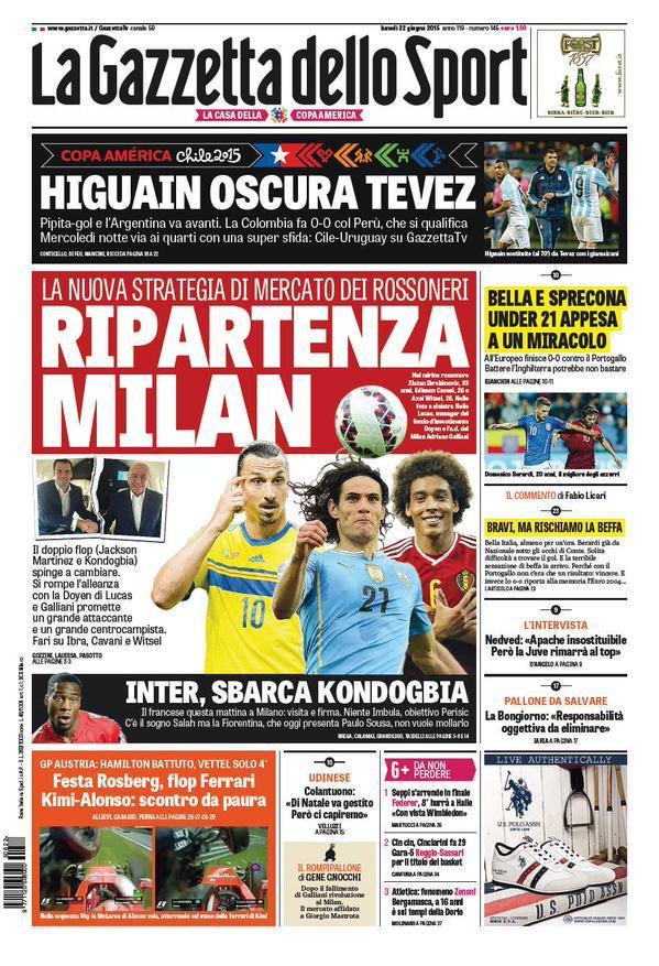 Gazzetta dello Sport 22-06-2015