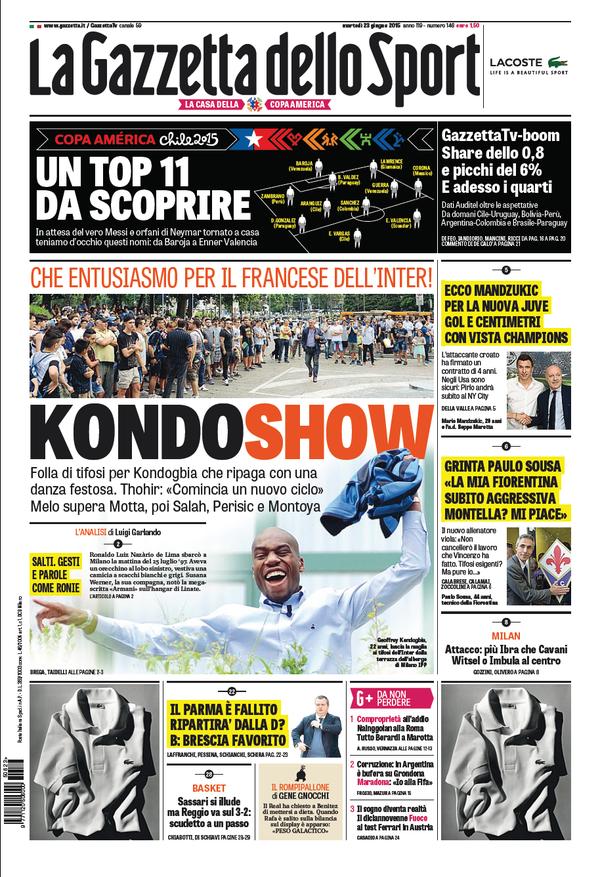 Gazzetta dello Sport 23-06-2015