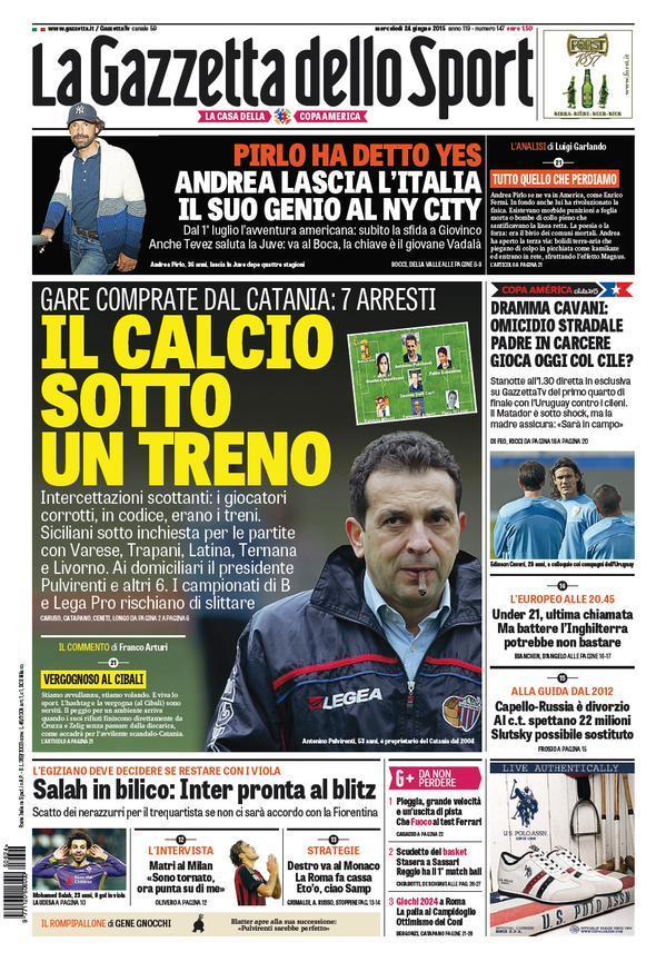 Gazzetta dello Sport 24-06-2015