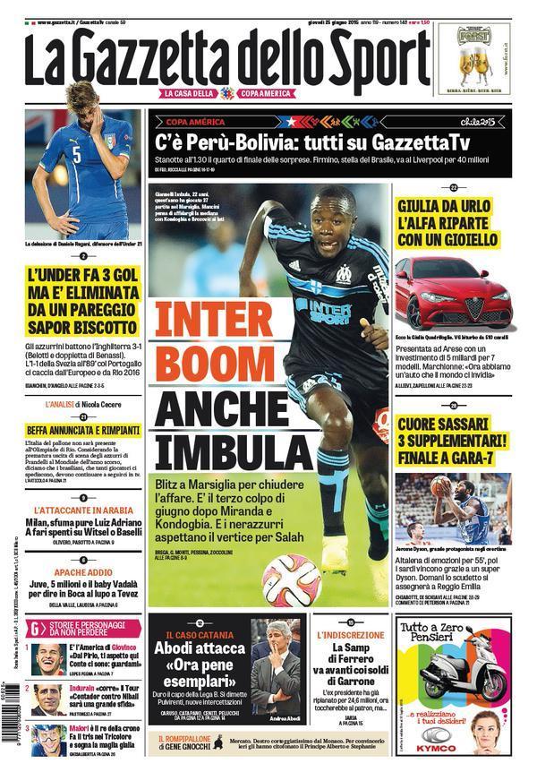 Gazzetta dello Sport 25-06-2015