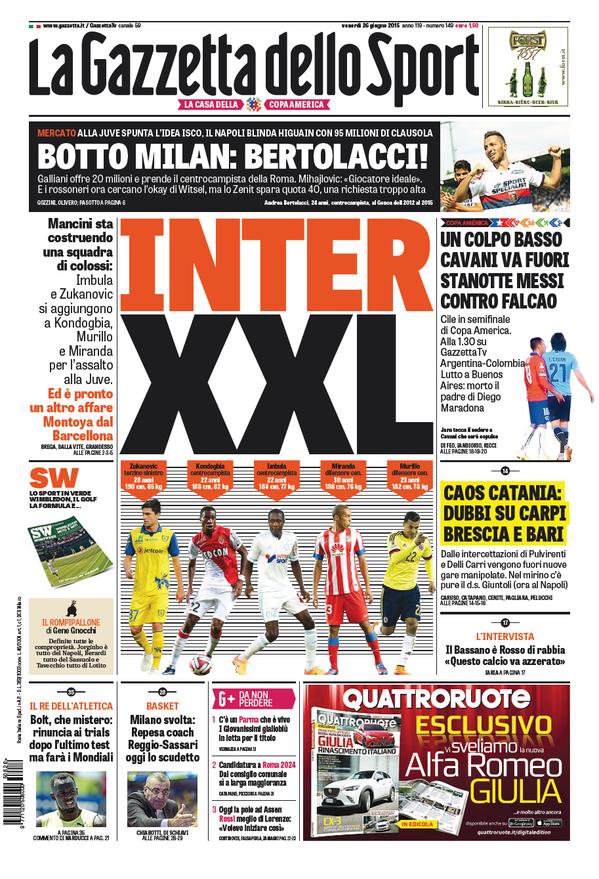 Gazzetta dello Sport 26-06-2015