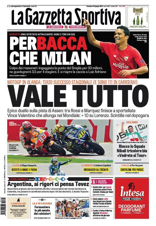 Gazzetta dello Sport 28-06-2015