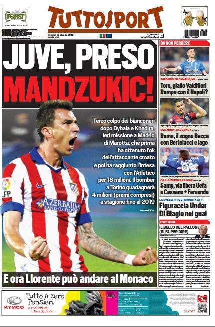 Tuttosport 19-06-2015