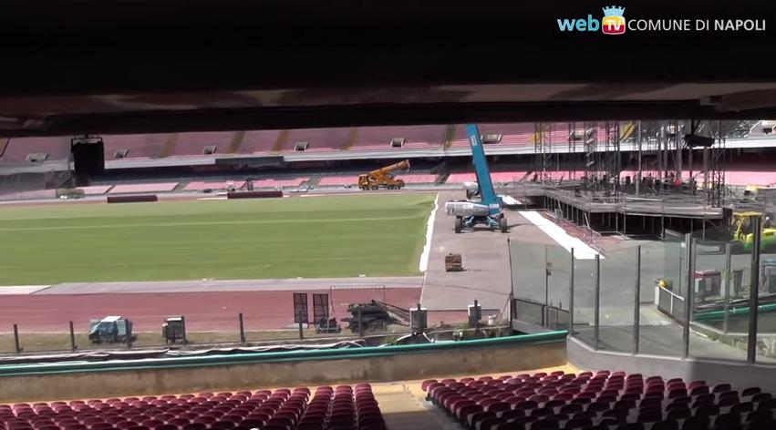 San Paolo: previsto un nuovo maxischermo in Curva A per le Universiadi